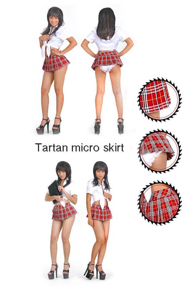tartan micro skirt