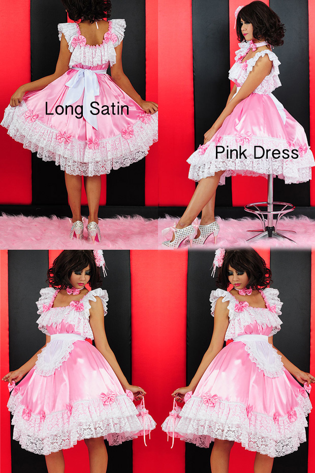 LONG-SATIN-pink DRESS-