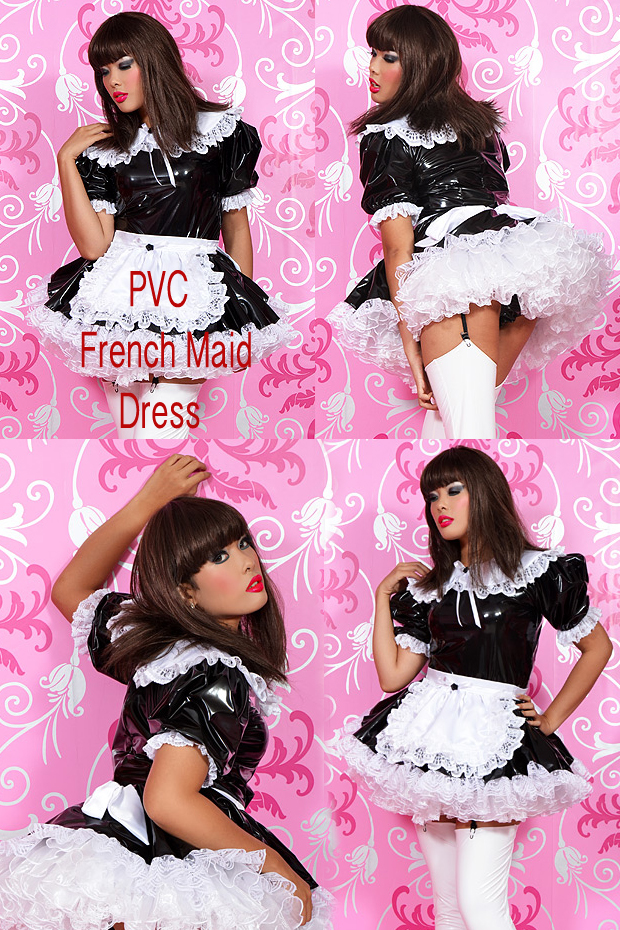 PVC FRENCH MAID XL