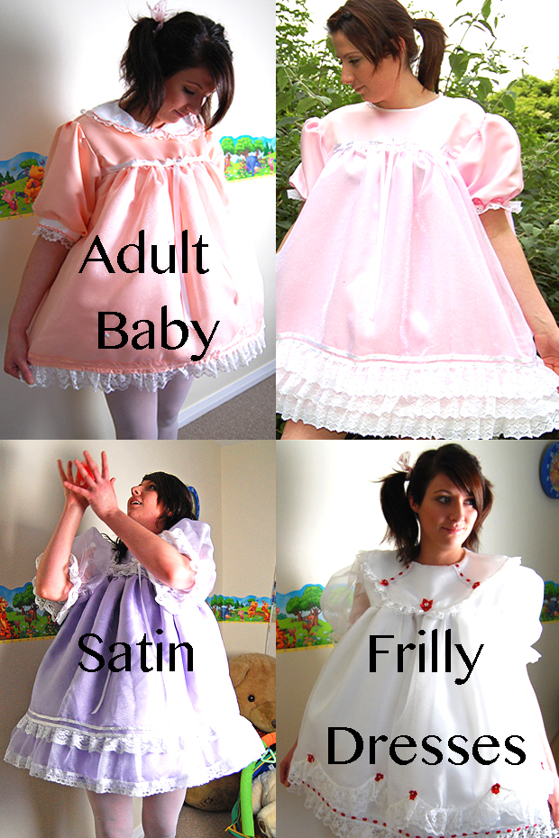 satin frilly adult baby dresses for crossdressing