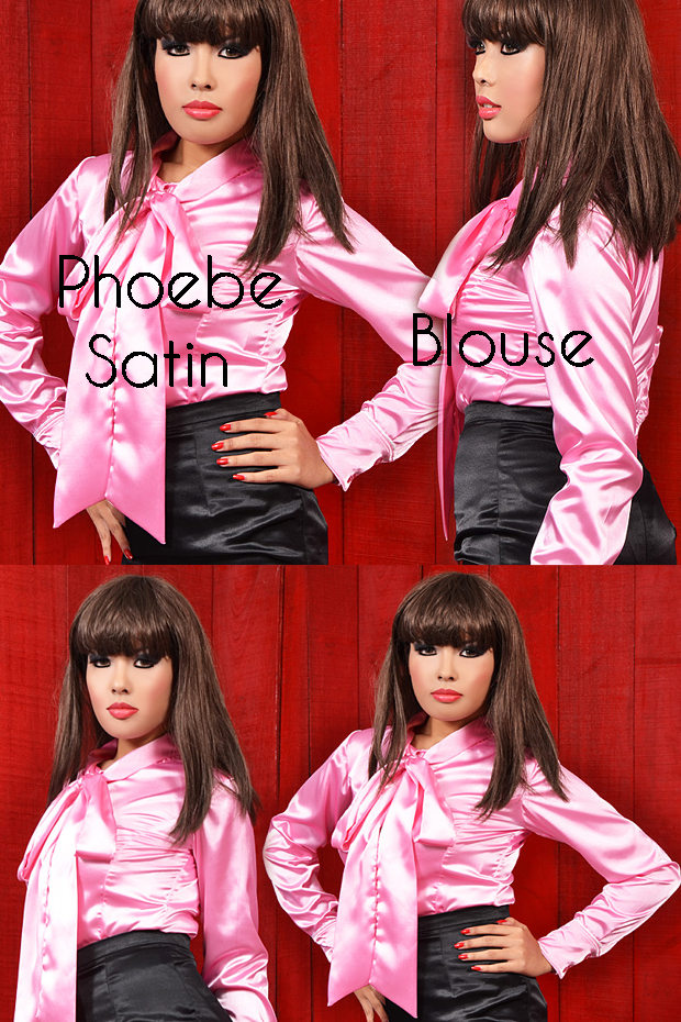 Phoebe satin blouse