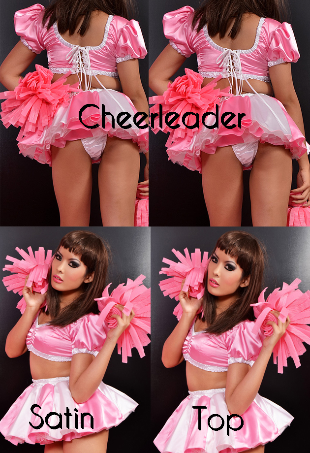 cheerleader satin top