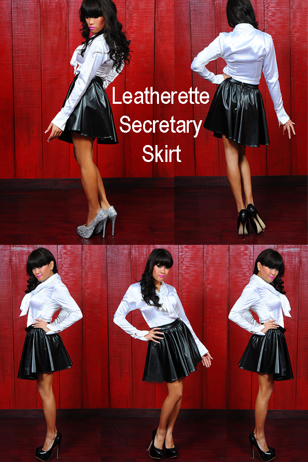 leatherette secretary skirt for crossdressing site