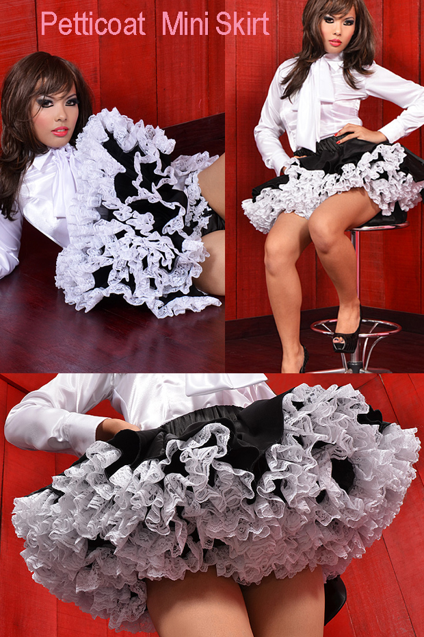 petticoat mini skirt for the crossdressing room site