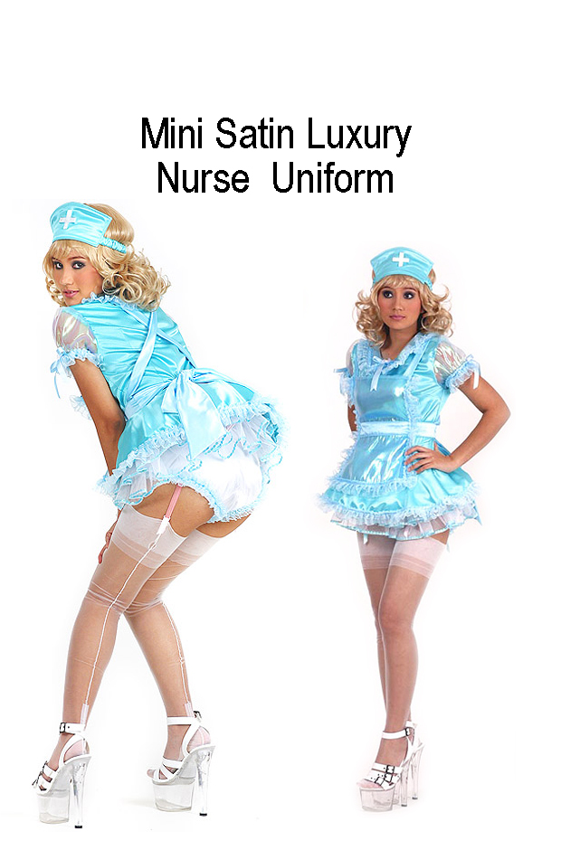 satin mini nurse uniform