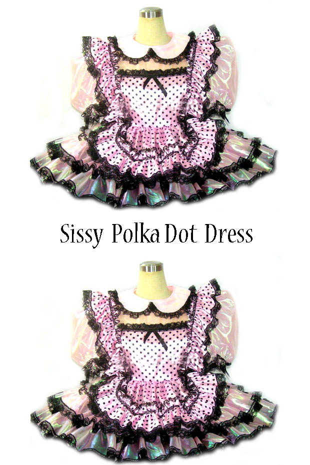sissy polka dot dress