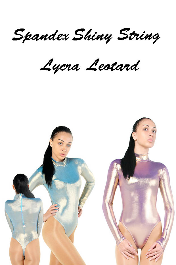 spandex shiny string leotard